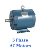 Small 3 phase motors, NEMA 48,56 frame for fan and blowers
