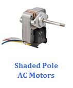 C-frame shaded pole motors for air purifier and HVAC application