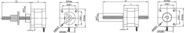 NEMA 17 stepper linear actuator