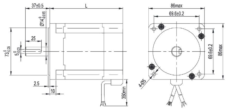 86mm brushless dc motor nema34 8poles. Black Bedroom Furniture Sets. Home Design Ideas