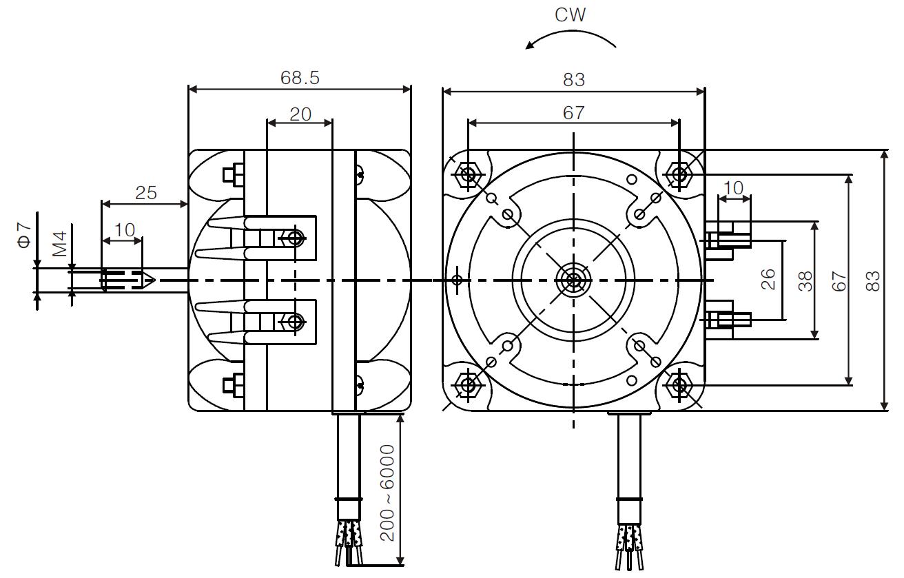 C Frame Shaded Pole Motor