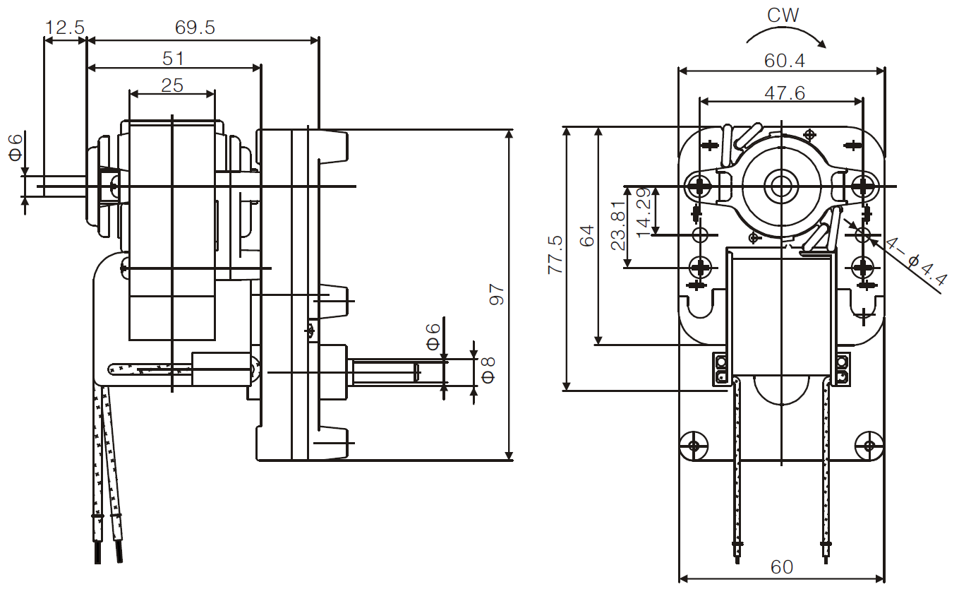auger gear motor drawing 1