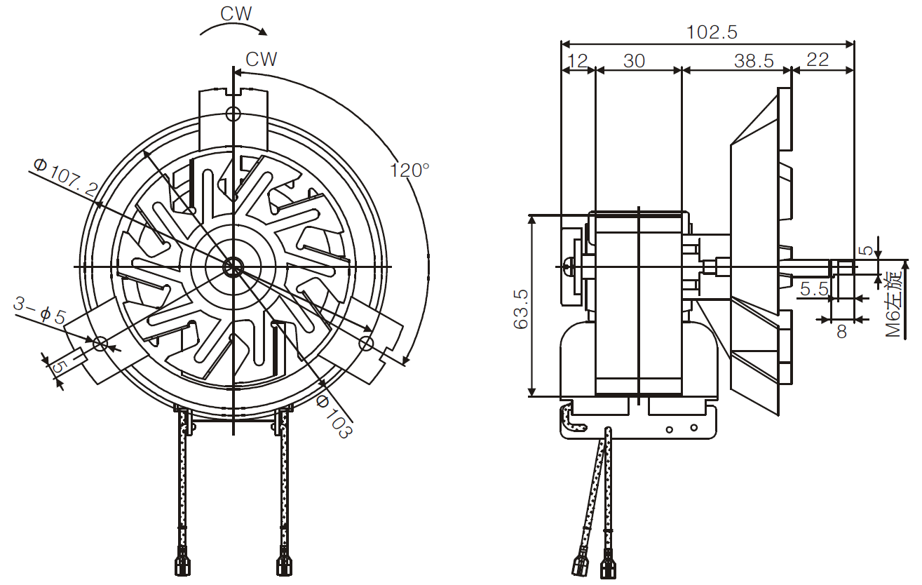 convenction oven fan motor drawing 1