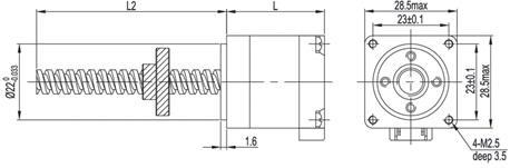 nema 11 linear stepper mootr external drive