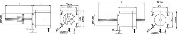 nema23 stepper linear actuator