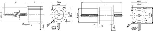 nema34 stepper linear actuatr