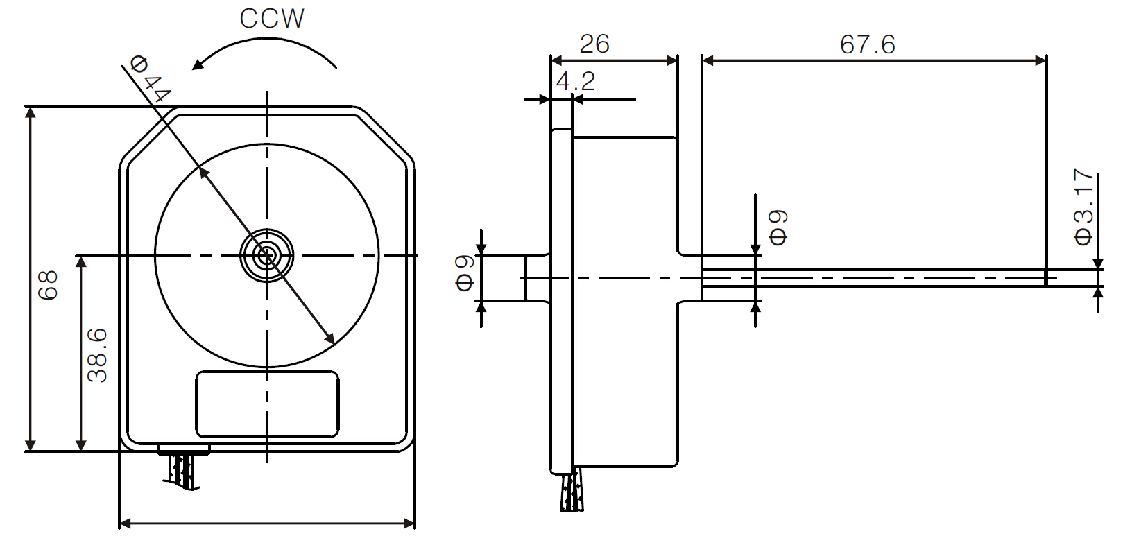 ECM refrigerator evaporator fan motor drawing 2