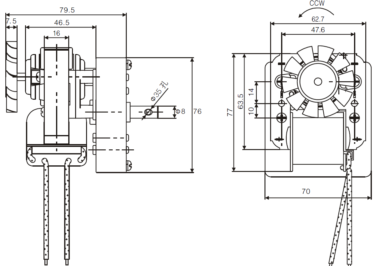 auger gear motor drawing 2