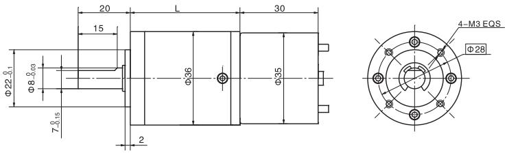 3530 dc planetary gear motor