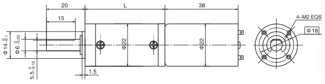 2238 dc planetary gear motor
