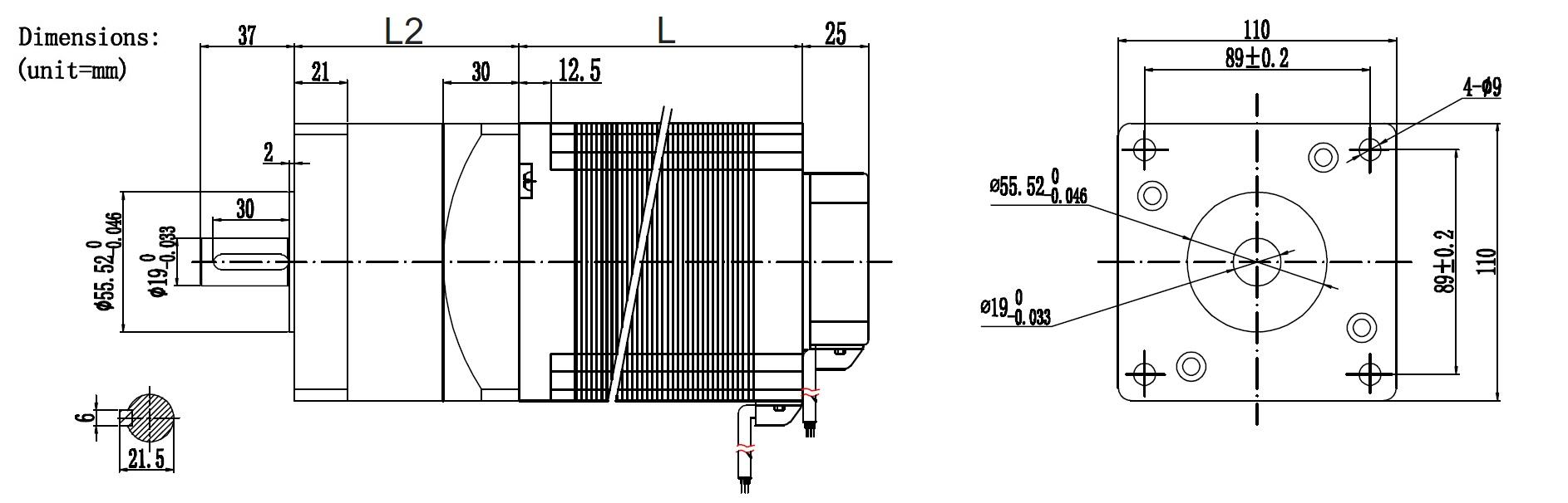 NEMA42 BLDC Motor with gearbox
